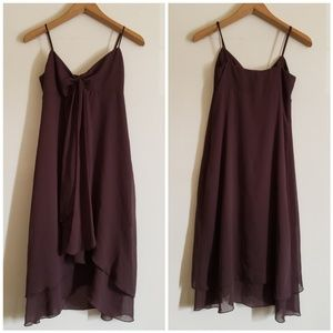 Michael Kors Brown Flowy Midi Dress